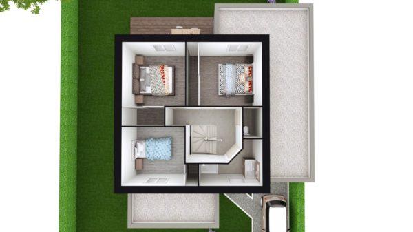 Maison 114m² + Terrain 400m² à La Chapelle-Heulin - Proposition d'Aménagement du R+1