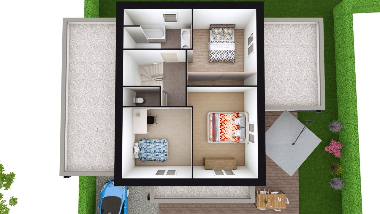 Maison 132m² + Terrain 560m² à Basse-Goulaine - Proposition d'Aménagement du R+1