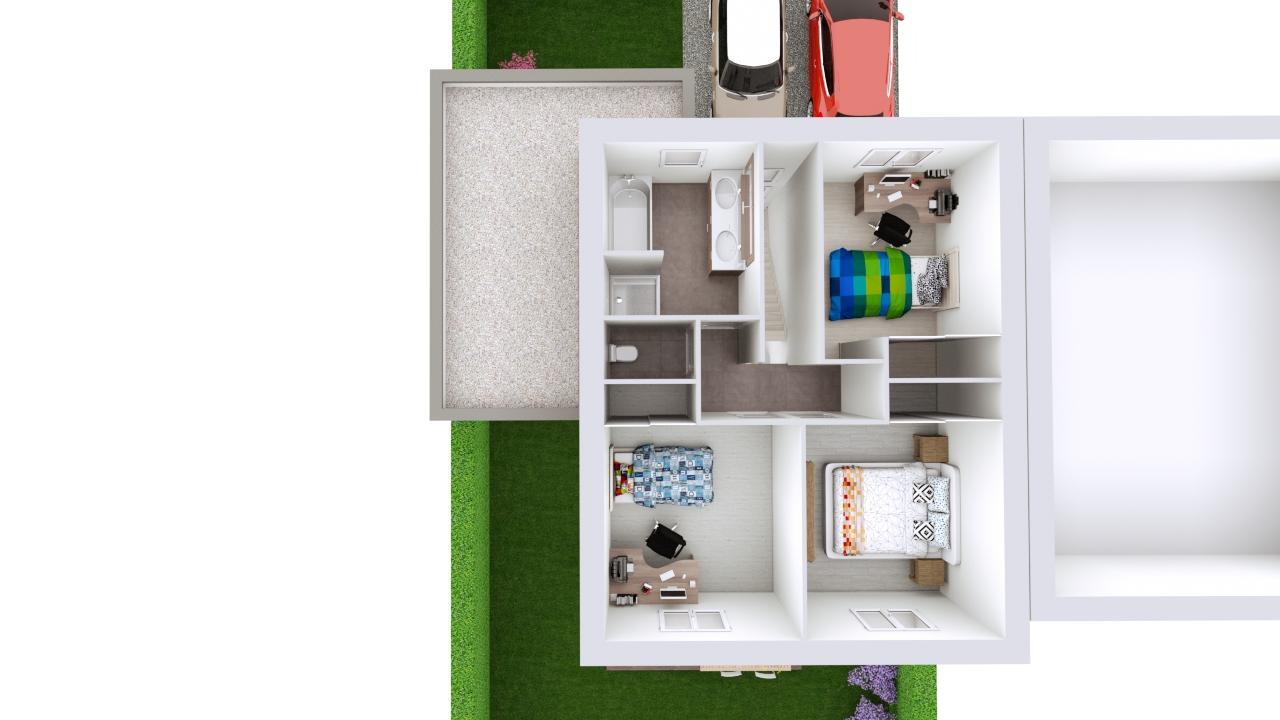 Maison 95m² + Terrain 230m² à La Chapelle-Heulin - Proposition d'Aménagement du R+1