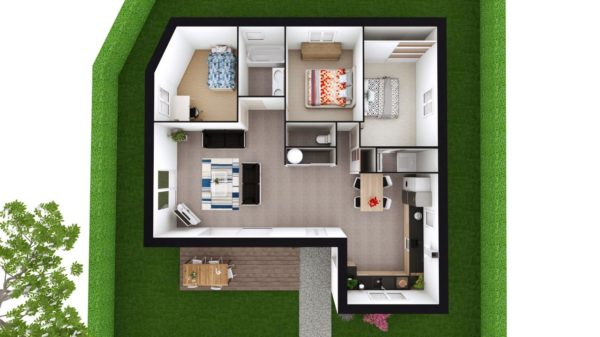 Maison 99m² + Terrain 757m² à Sainte-Luce-sur-Loire - Proposition d'Aménagement du RdC