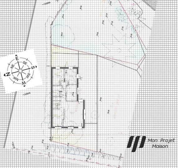 Maison 87m² + Terrain 275m² à Bouguenais - Implantation du RdC sur la Parcelle détachée