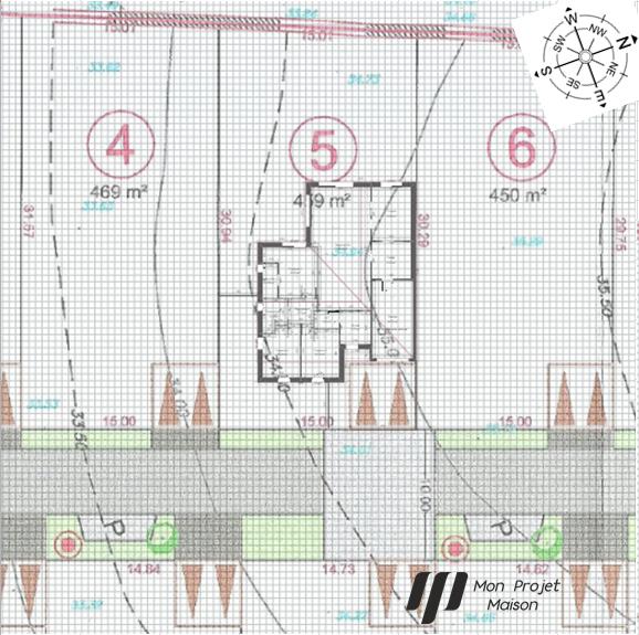 Maison 113m² + Terrain 459m² au Pallet - Implantation sur la Parcelle
