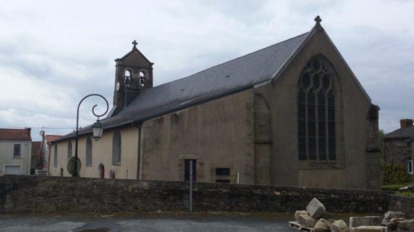 Construire à Monnières -  Église vue depuis la nouvelle Mairie