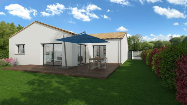 Maison 113m² + Terrain 459m² au Pallet - Perspective Arrière