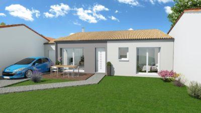 Maison 80m² + Terrain 471m² à Monnières - Perspective Avant