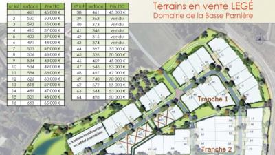 Terrain de 526m² à Legé - Plan Masse du Domaine de la Basse Parnière - Mon Projet Maison, Constructeur de Maisons en Loire Atlantique 44