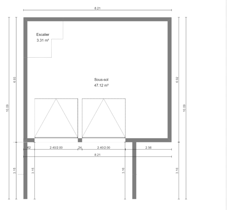 Maison 87m² + Terrain 275m² à Bouguenais - Plan du Sous-Sol