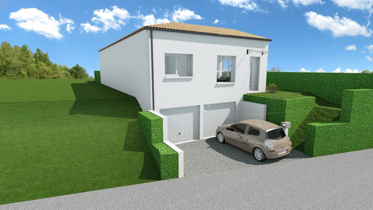 Maison 87m² + Terrain 275m² à Bouguenais - Perspective Avant