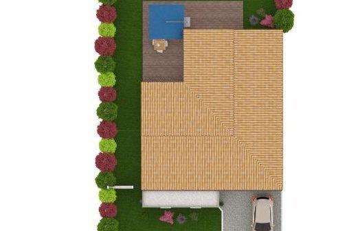 Maison 113m² + Terrain 459m² au Pallet - Vue de Dessus