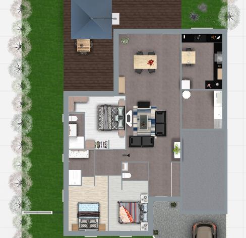 Maison 113m² + Terrain 459m² au Pallet - Proposition d'Aménagement