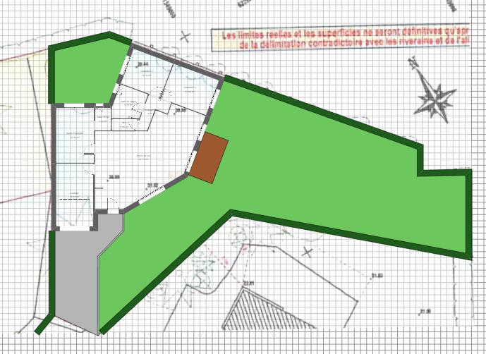 Maison 96m² + Terrain 450m² à Bouguenais - Implantation sur la Parcelle avec EV