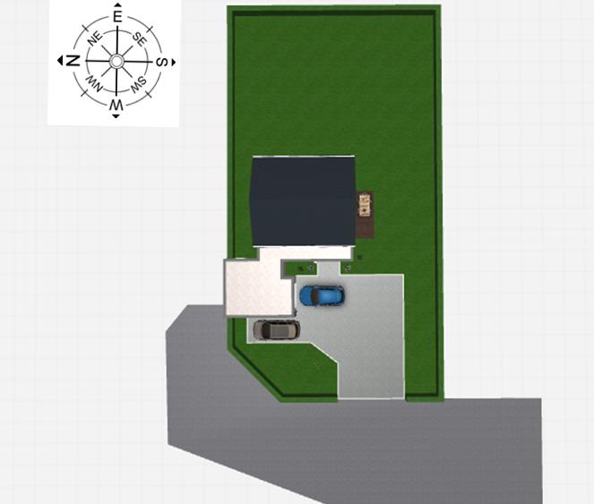 Maison 104m² + Terrain 728m² à Saint-Sulpice-des-Landes - Implantation sur la Parcelle avec RdV