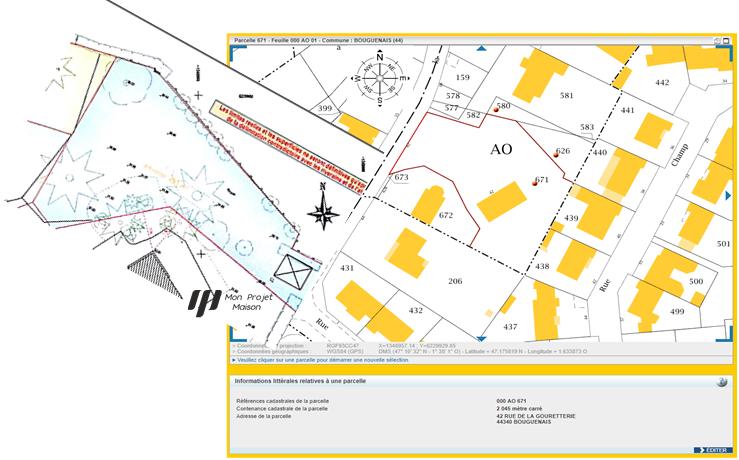 Maison 96m² + Terrain 450m² à Bouguenais - Parcelle