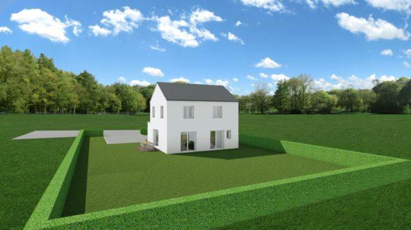 Maison 104m² + Terrain 728m² à Saint-Sulpice-des-Landes - Perspective Arrière