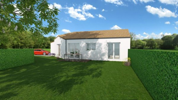 Maison 96m² + Terrain 450m² à Bouguenais - Perspective Arrière