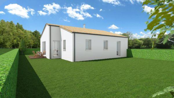 Maison 63m² + Terrain 432m² à Saint-Lumine-de-Coutais - Perspective Arrière