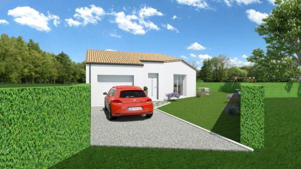 Maison 96m² + Terrain 450m² à Bouguenais - Perspective Avant