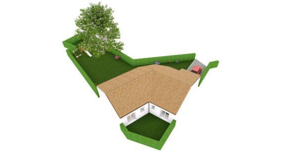 Maison 96m² + Terrain 450m² à Bouguenais - Perspective d'Ensemble