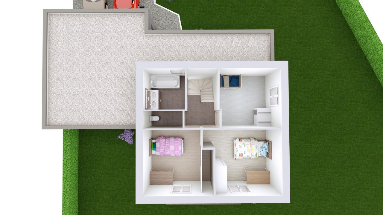 Maison 106m² + Terrain 1.000m² à Saint-Sulpice-des-Landes - Proposition d'Aménagement du R+1