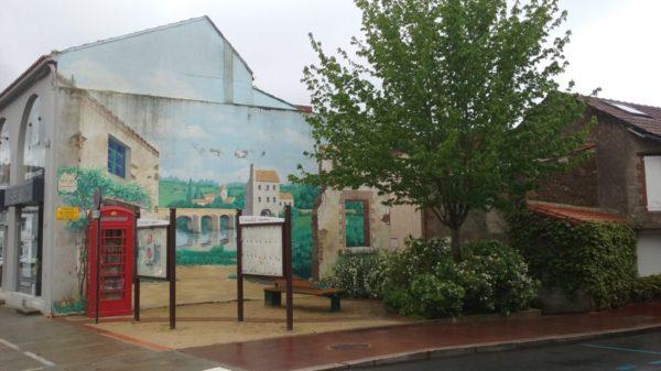 Construire à Vallet -  Fresque rue Ribateau