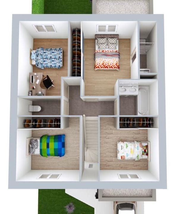 Maison 107m² + Terrain 245m² à Gorges - Proposition d'Aménagement du R+1