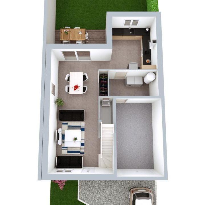 Maison 103m² + Terrain 200m² à Bouguenais - Proposition d'Aménagement du RdC