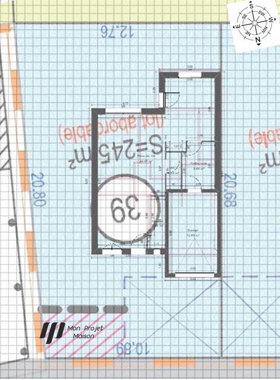 Maison 107m² + Terrain 245m² à Gorges - Implantation sur la Parcelle