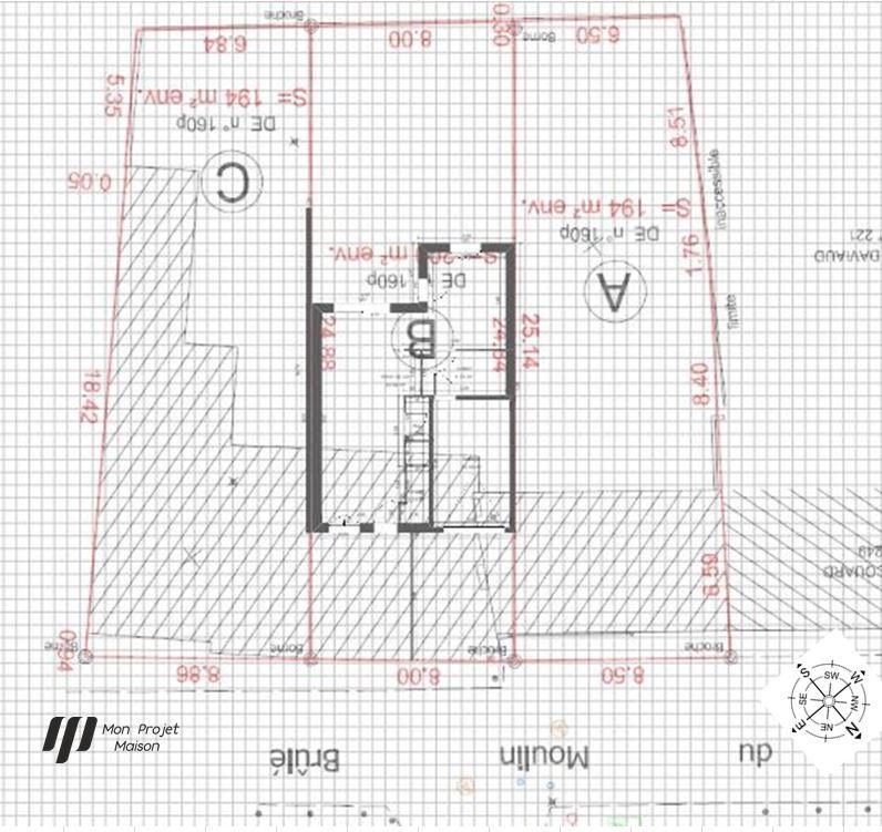 Maison 103m² + Terrain 200m² à Bouguenais - Implantation sur la Parcelle
