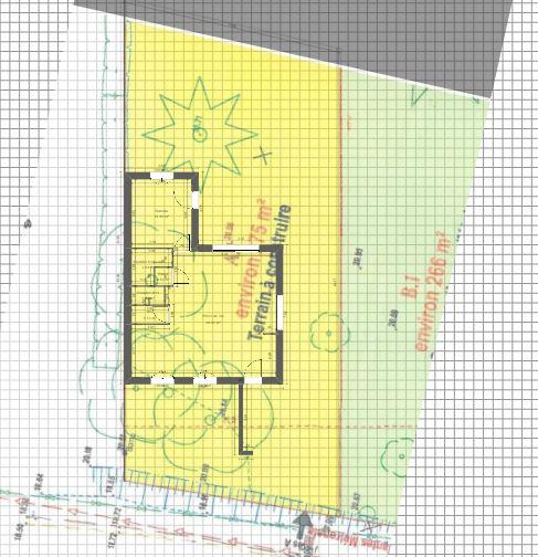 Maison 97m² + Terrain 275m² à Bouguenais - Implantation sur la Parcelle