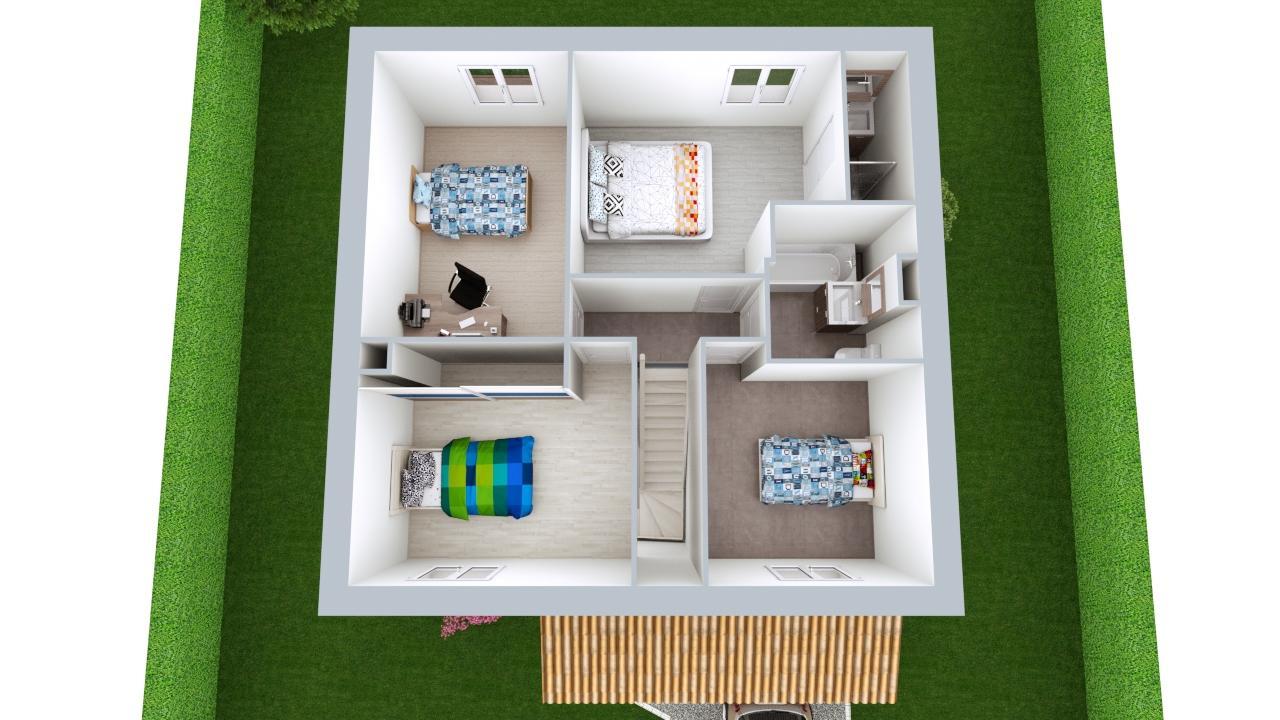 Maison 100m² + Terrain 392m² à La Chevrolière - Proposition d'Aménagement du R+1