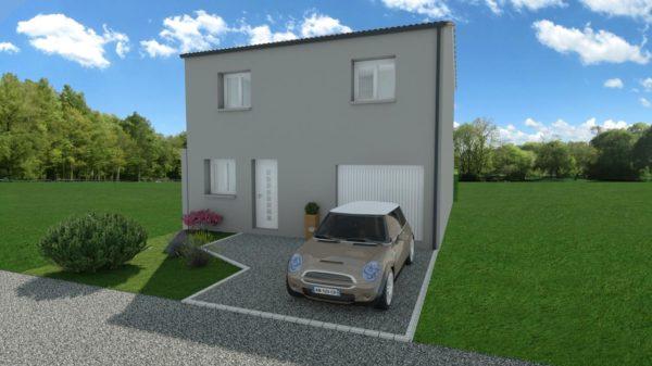 Maison 103m² + Terrain 200m² à Bouguenais - Perspective Avant