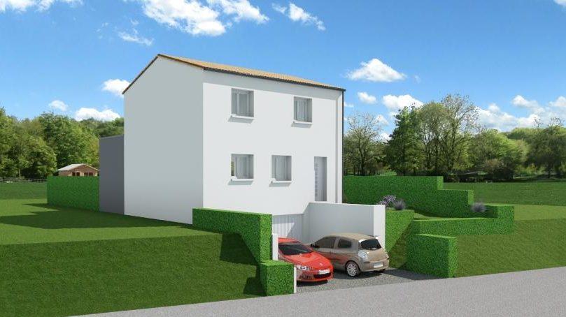 Maison 97m² + Terrain 275m² à Bouguenais - Perspective Avant