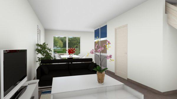Maison 103m² + Terrain 200m² à Bouguenais - Perspective Intérieure du Séjour