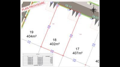 Terrain de 402m² à Petit-Mars - Plan du Lot 18