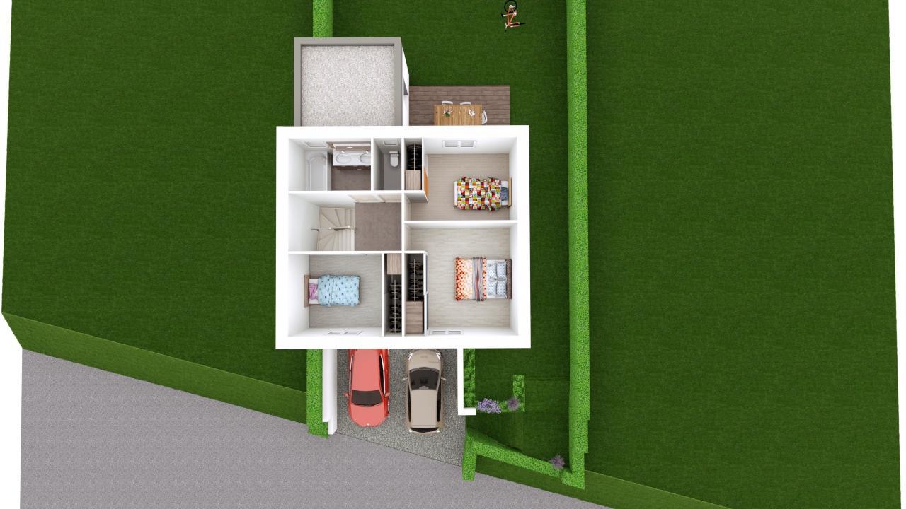 Maison 97m² + Terrain 275m² à Bouguenais - Proposition d'Aménagement du R+1