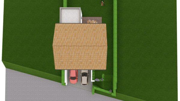 Maison 97m² + Terrain 275m² à Bouguenais - Vue de Dessus des Toitures