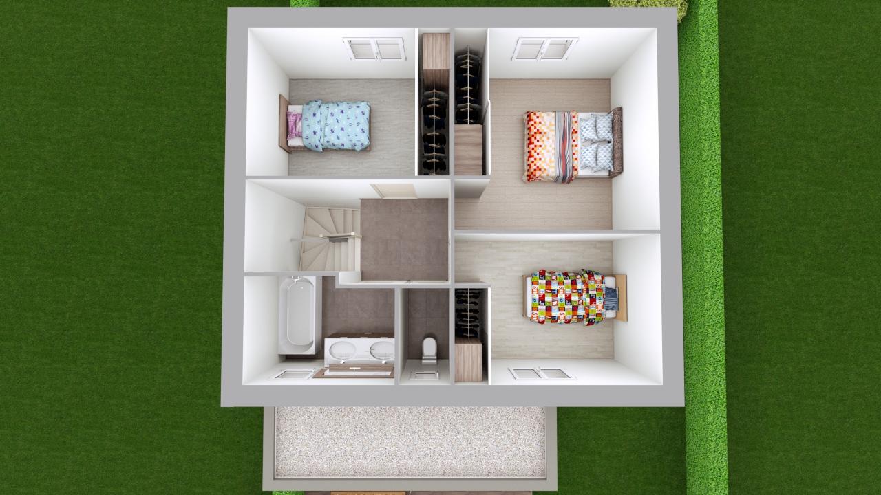 Maison 103m² + Terrain 275m² à Bouguenais - Aménagement du R+1