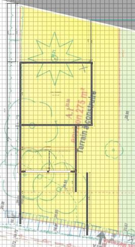 Maison 103m² + Terrain 275m² à Bouguenais - Implantation sur la Parcelle