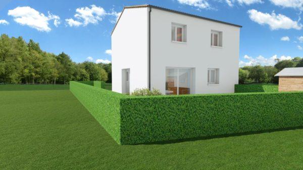 Maison 103m² + Terrain 275m² à Bouguenais - Perspective Arrière