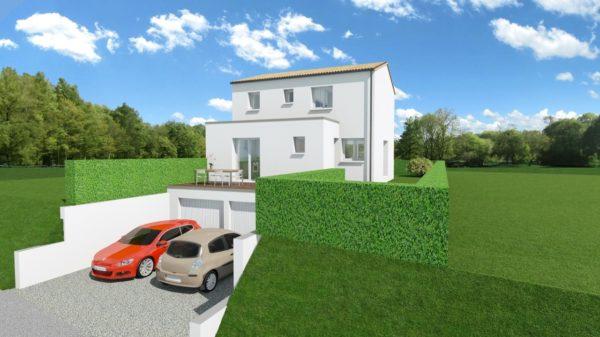 Maison 103m² + Terrain 275m² à Bouguenais - Perspective Avant