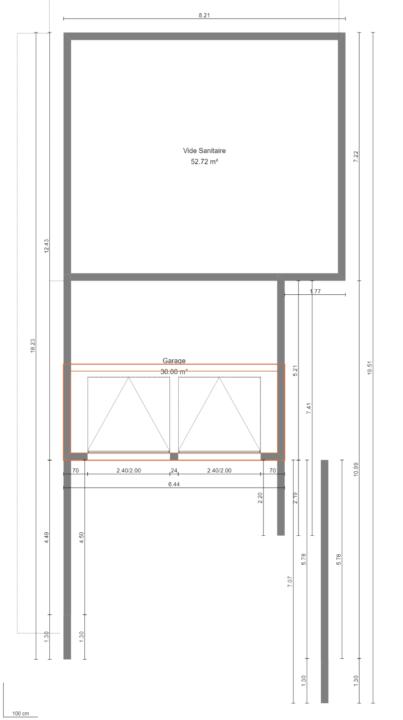 Maison 103m² + Terrain 275m² à Bouguenais - Plan du Rez de Chaussée