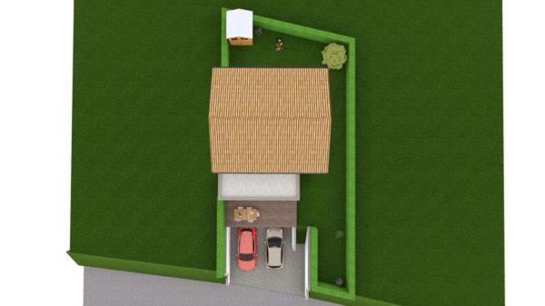 Maison 103m² + Terrain 275m² à Bouguenais - Vue de Dessus
