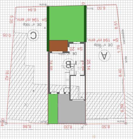Maison 112m² + Terrain 200m² à Bouguenais - Implantation sur la Parcelle avec Borne Anti-Stationnement