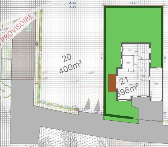 Maison 89m² + Terrain 396m² à Petit-Mars - Implantation sur la Parcelle