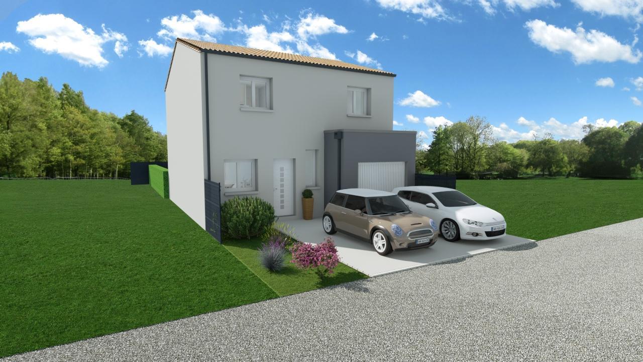Maison 112m² + Terrain 200m² à Bouguenais - Perspective Avant