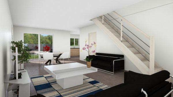 Maison 112m² + Terrain 200m² à Bouguenais - Perspective Intérieure