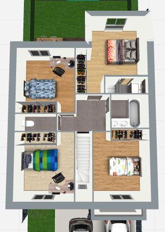 Maison 112m² + Terrain 200m² à Bouguenais - Proposition d'Aménagement du R+1