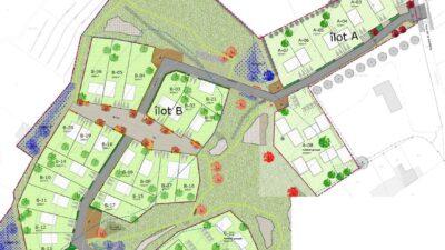 Quartier de la Gauterie au Landreau - Plan des Ilots A et B
