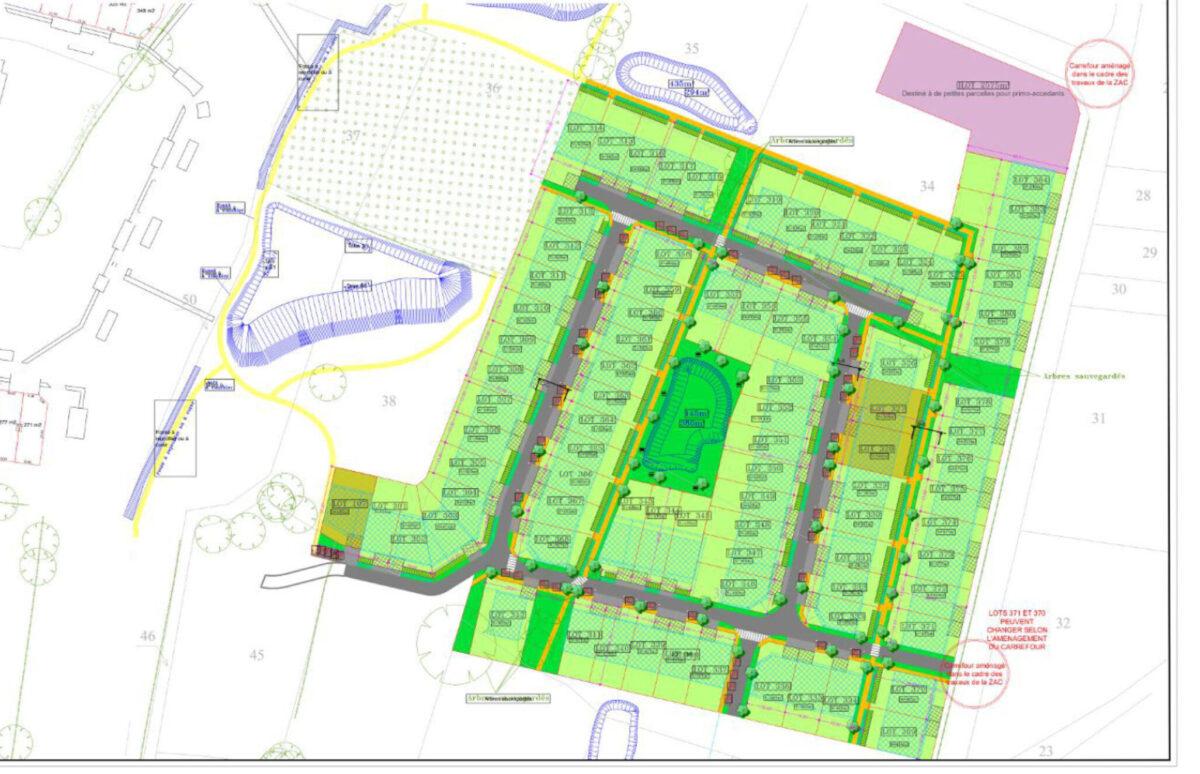 Zac de la Gergauderie à Fay-de-Bretagne - Plan de Composition Tranche 3