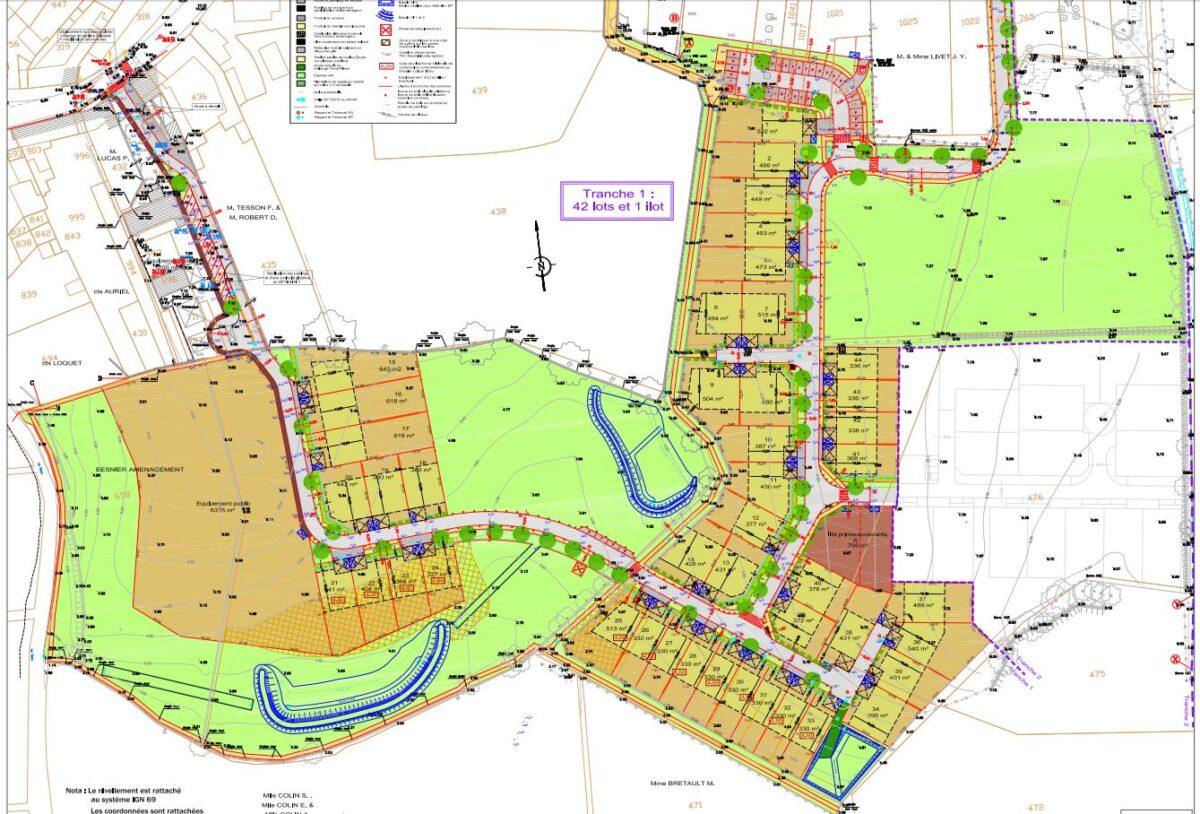 ZAC de la Fontaine aux Bains à Vue - Plan de Composition ZAC de la Fontaine aux Bains